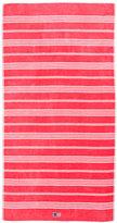 Lexington Striped Velour Beach Towel - 100x180cm - Rose/White