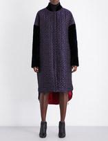 Antonio Berardi Quilted floral jacquard coat