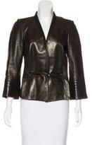 Salvatore Ferragamo Structured Leather Jacket
