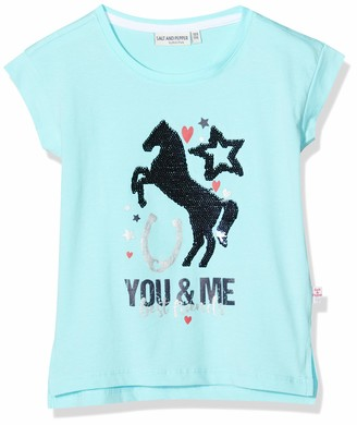 Salt&Pepper Salt and Pepper Girls' Pferde Druck mit Wendepailletten T - Shirt