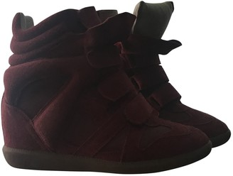 Isabel Marant Beckett Burgundy Suede Trainers