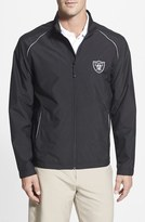 Cutter & Buck Men's Big & Tall 'Oakland Raiders - Beacon' Weathertec Wind & Water Resistant Jacket