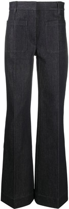 Victoria Beckham High-Waisted Patch Pocket Jeans