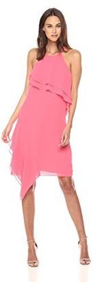 Nanette Lepore Women's Spaghetti Strap Dress W/wrap Around Flounce