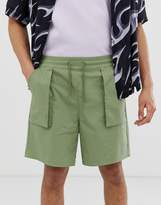 Asos Design DESIGN relaxed utility shorts in khaki