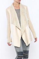 Lush Faux Suede Cardigan