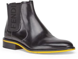 Fendi Logo Chelsea Boot