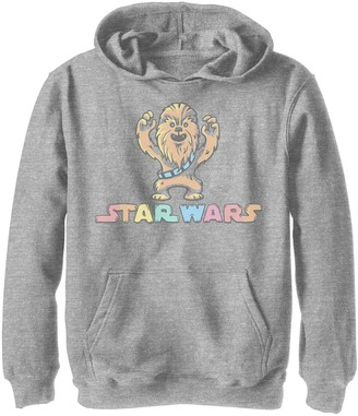 Star Wars Boys 8-20 Chewbacca Water Color Portrait Logo Graphic Hoodie