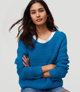 LOFT Stitch Stripe Sweater