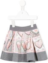 MonnaLisa heart bunting printed skirt