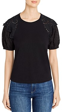Design History Eyelet-Sleeve Top