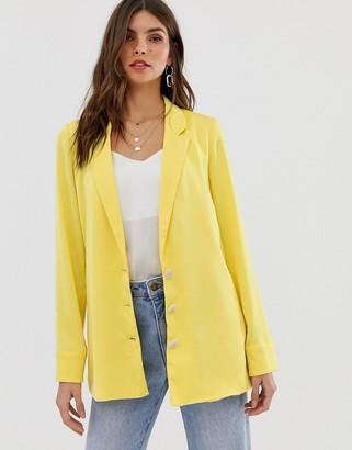 Vila oversized blazer-Yellow