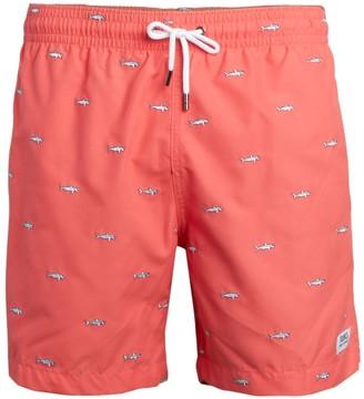 Trunks Shark Embroidered Swim Shorts