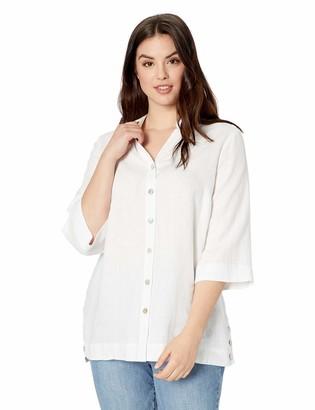 Foxcroft Women's Liberty Chambray Linen Tunic