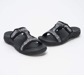 Skechers Sequin T-Strap Slide Sandals - Reggae