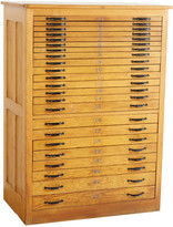 Rejuvenation Tall Letterpress 23-Drawer Cabinet