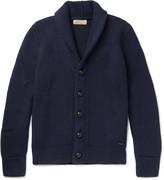 Burberry - Shawl-collar Ribbed Wool And Silk-blend Cardigan
