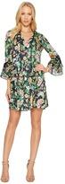 Hale Bob Kyoto in Bloom Stretch Satin Woven Dress Women's Dress