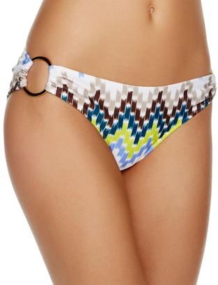 Milly Women's Chevron-Print Barbados Bikini Bottom