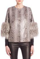 Python & Fox Fur Jacket