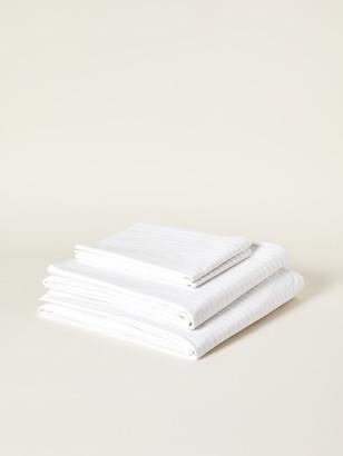 Boll & Branch Percale Simple Stripe Organic Cotton Sheet Set