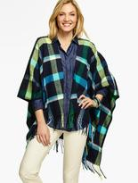 Talbots Harvest Plaid Wrap