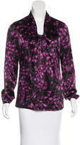 Tory Burch Silk Floral Print Blouse