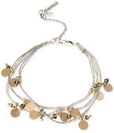 Kenneth Cole New York Two-Tone Shaky Disc and Bead Multi-Row Bracelet