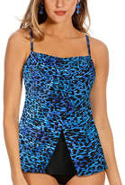 Miraclesuit Blue Purr-fection Jubilee D-Cup Tankini Top