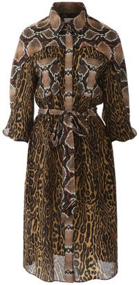 Burberry Animalier Costanza Dress