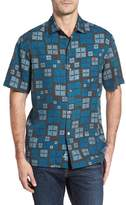 Tommy Bahama Isla Tiles Standard Fit Silk Camp Shirt