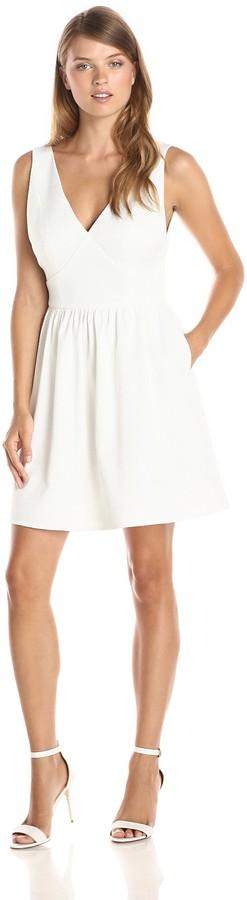 Minuet Women's V-Neck Sleeveless A Line Dress