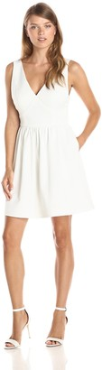 Minuet Women's V-Neck Sleeveless A Line Dress