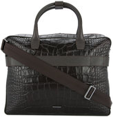 Cerruti crocodile embossed briefcase