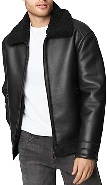 Blank NYC Faux Leather Sherpa Jacket
