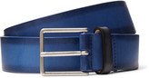 Paul Smith - 3cm Blue Burnished-leather Belt