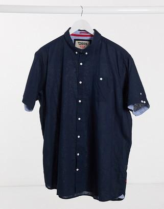 Duke S/S Linen Blend Button Down Collar Shirt With Pocket