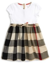 Burberry Infant Girl's 'Mini Rosey' Check Cotton Dress