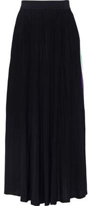 Sandro Pleated Stretch-knit Maxi Skirt