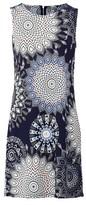 Dorothy Perkins Womens Izabel London Navy Kaleidoscope Shift Dress