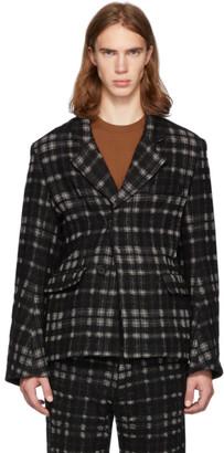Ann Demeulemeester Black and Off-White Bette Blazer