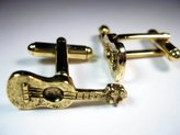 Classic Cufflinks LLC Guitar 24k gold cufflinks by classic cufflinks