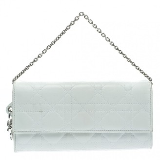 Christian Dior Lady White Leather Clutch bags