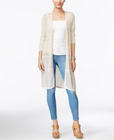 JM Collection JM Collection, Three-Quarter-Sleeve Duster Cardigan, Only at Macy's