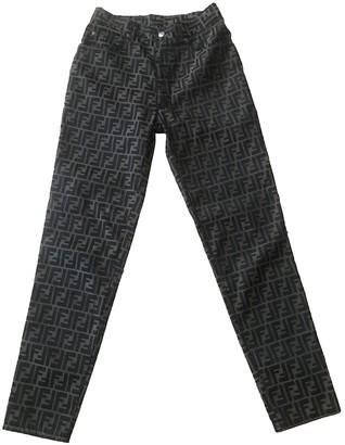 Fendi Brown Cloth Trousers