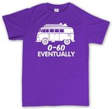 Customised Perfection VW T1 0-60 mph Eventually Funny Bus V Dub Surf Classic T Shirt XL