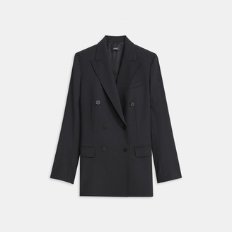 Theory Double-Breasted Blazer in Good Wool