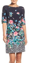 Eliza J Petite Women's Floral Jersey Shift Dress