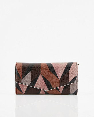 Le Château Abstract Print Faux Leather Crossbody Wallet
