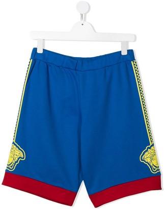 Versace TEEN elasticated cotton shorts